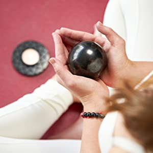 Polished shungite sphere