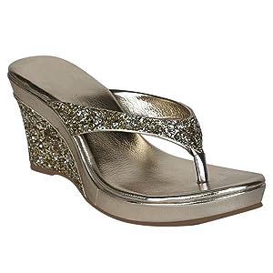 Fancy Party Wear Wedges Sandal