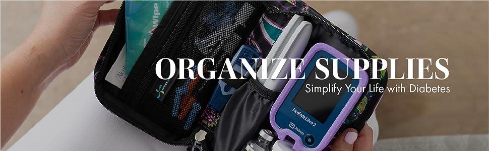 Sugar Medical Diabetic Diabetes Supply Case organize supplies simplify your life with diabetes