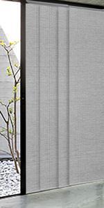 GoDear Design Grey Panel Track Blind Room Divider Closet Door, Airo