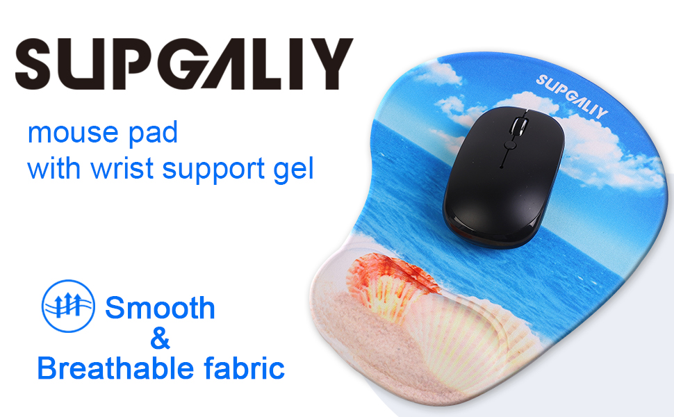 mouse pads with wrist support computer for laptop mousepad with gel wrist rest