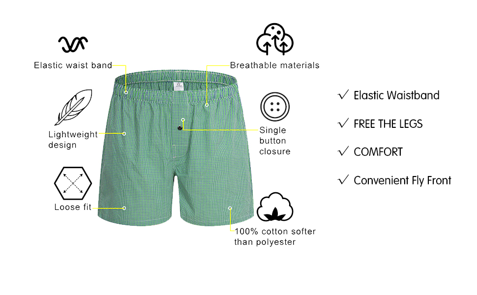 elastic waistband of cotton pajamas shorts for men