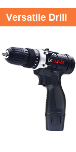 GOXAWEE most Versatile Drill with tool case and many accessories