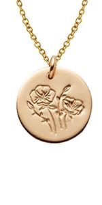 Birsthflower necklace