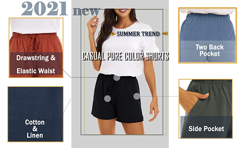 shorts for women casual