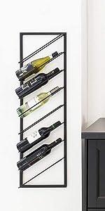 wijnrek, metaal, schuin, industrieel, lifa living