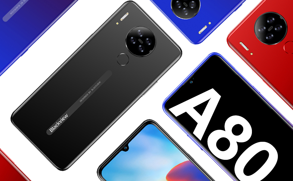 Blackview A80 (2021) 4G smartphone without contract Android 10.0 GO Dual Sim