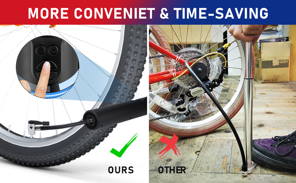 Air Compressor Portable Tire Inflator with Pressure Gauge