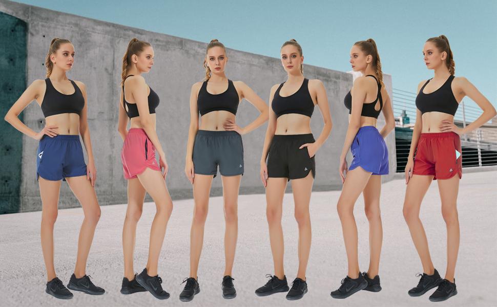 womens athletic shorts