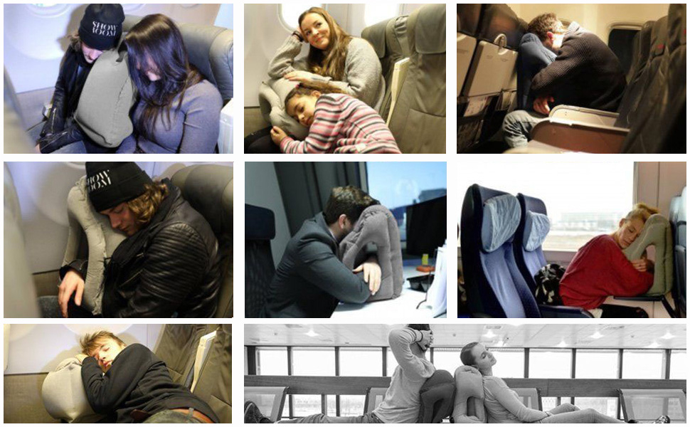 inflatable airplane pillow travel essentials travel accessories for airplane car trip