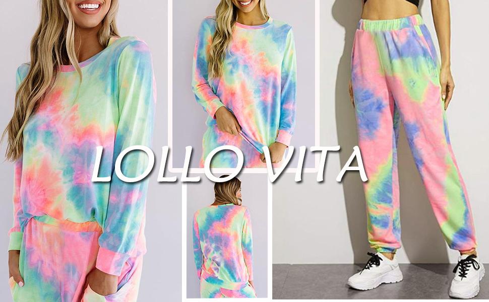 womens tie dye pajamas