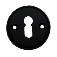 Sleutelplaatje zwart ijzer
