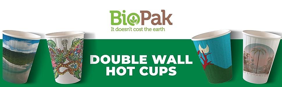 BioPak Double Wall Hot Cups Header