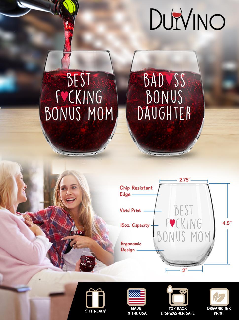 Bonus Mom Bonus Daughter Wine Set EBC