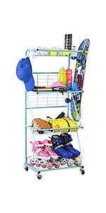 4-Tier Sports Storage Rack
