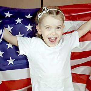 Little girl wearing american flag