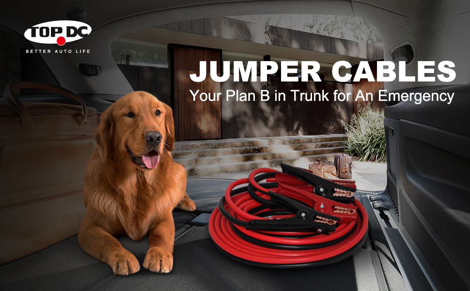 TOPDC heavy duty jumper cables