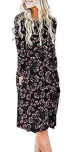 DB MOON Women Casual Long Sleeve Dresses