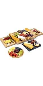 Cheese Board and Knife Set - 15 x 12 x 1.5 Inch