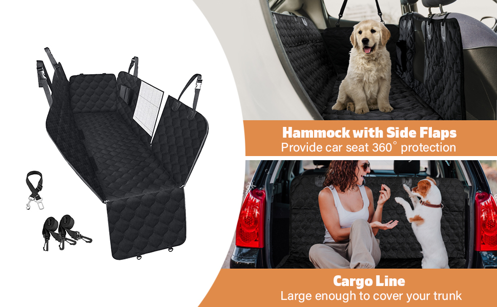Car Seat Cover for Dogs Dog Seat Cover for Back Seat Dog Car Hammock Nonslip Back Seat Protection
