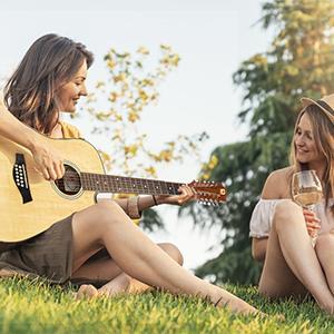 12 string guitar natural