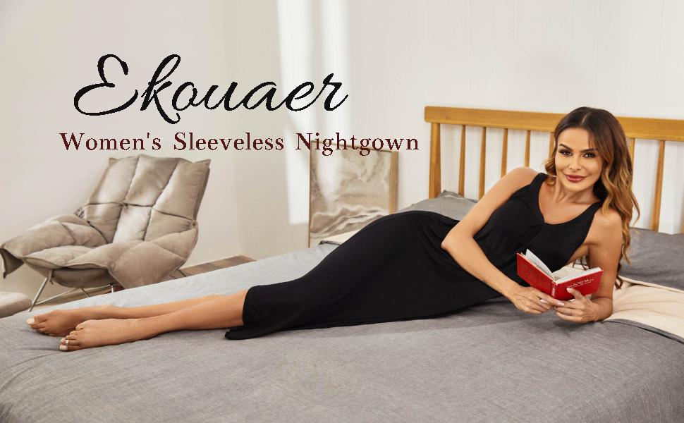 Ekouaer Long Nightgown