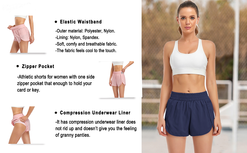 Sports active shorts for women