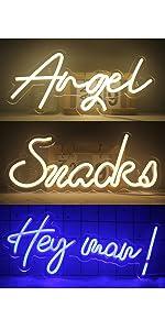 Buchstaben Leuchtreklamen