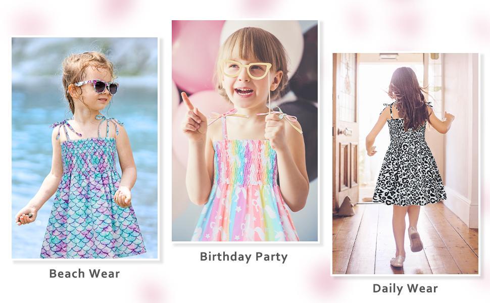 toddler girls kids summer dresses casual holiday beach dress princess sundress for little girls 4t