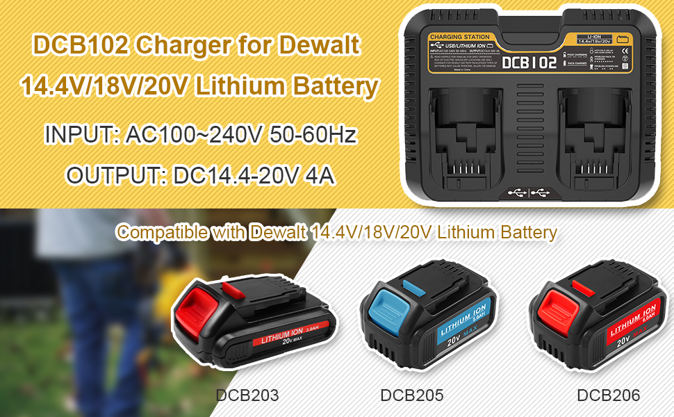 dcb102 battery charger