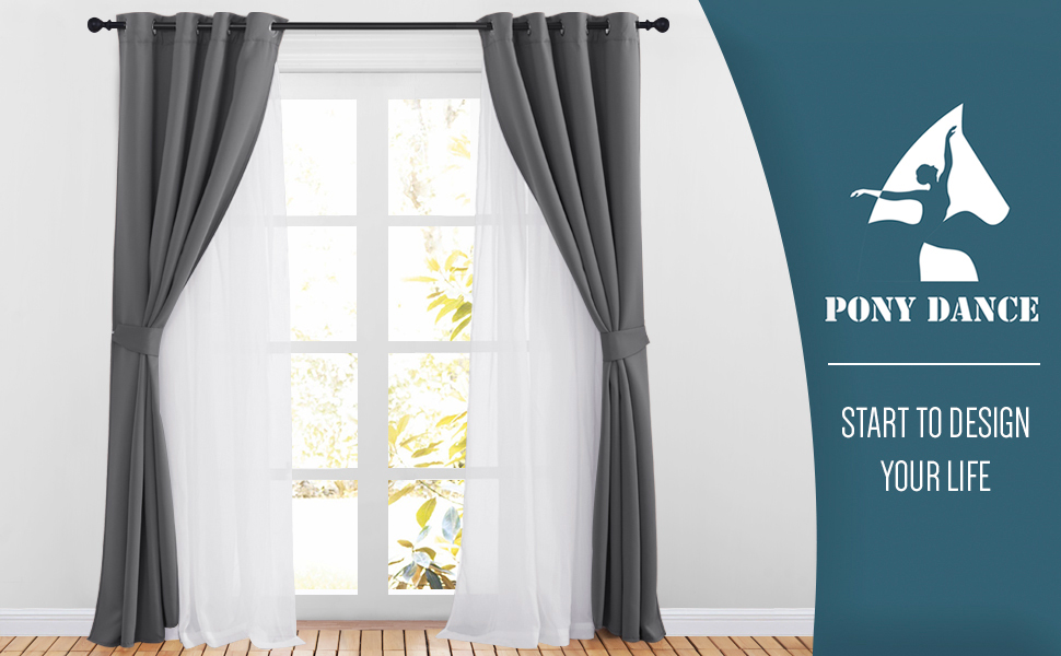 double layer curtains