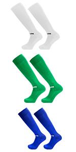 Football Socks White Green Blue
