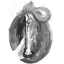 ilustração de uma vela acesa