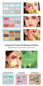 3 in 1 Makeup Palette by Docolor Matte Glitter Long Lasting Blendable Eyeshadow Palette