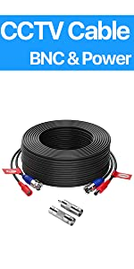 100FT CCTV cable black 1 pack