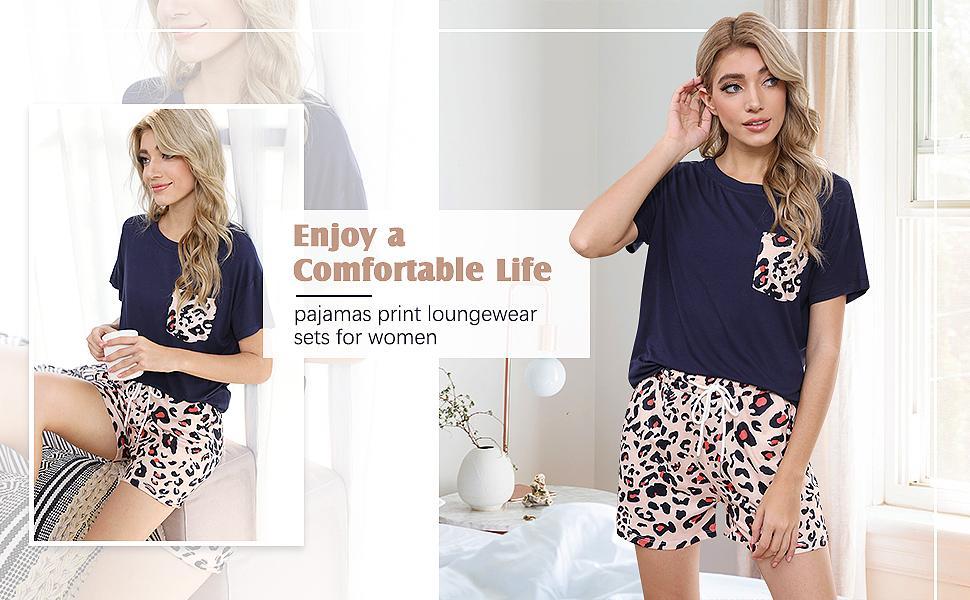 Pajamas Women Short Set Cute Sleepwear