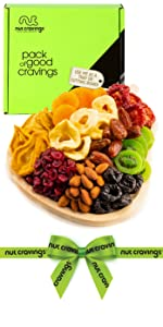 Pear wooden tray fruit mix