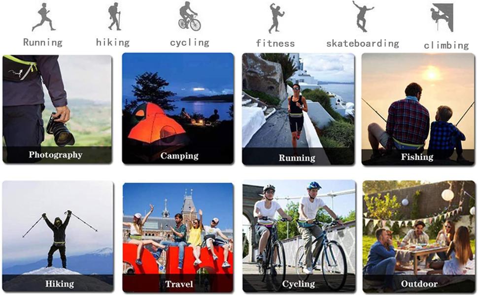 running  hiking cycling fitness sport travel bag
