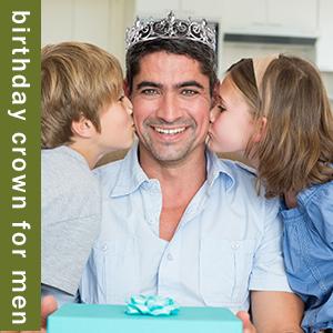 birthday crown for men