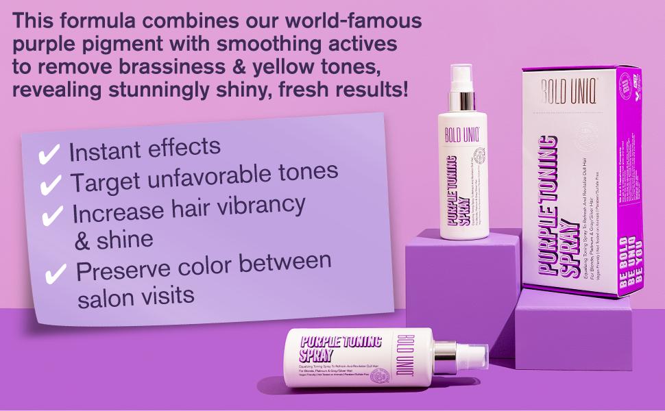 striebornofialový purpurový šampón na blond vlasy modrý šampón vlasový tonizačný šampón mosadz