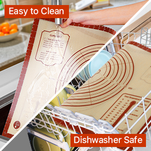 Just a quick wipe down, rinse the mat in warm soapy water or throw in the dishwasher