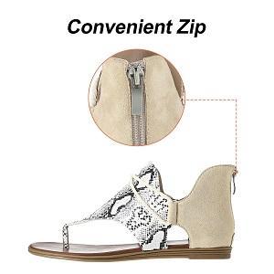 Women's Sandals with Zipper