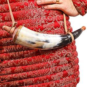Powder horn muzzle loader pistol pirate medieval gun civil war rifle frontier musket shooting canon