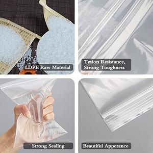 3x4.3 2mil pe plastic bags