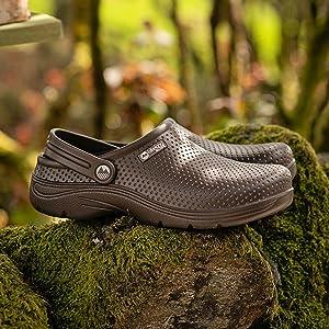 Mens garden clogs lightweight waterproof gardening shoes comfortable premium shoe gardener comfy