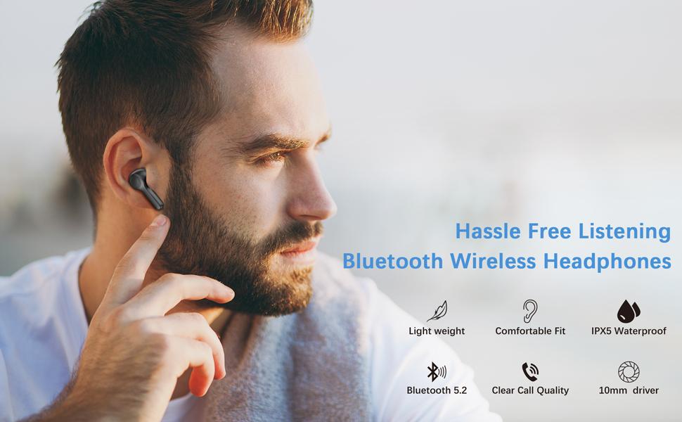 Bluetooth-Kopfhörer im Ohr