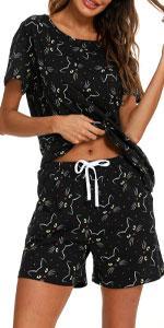 Womens Pajama Shorts Set