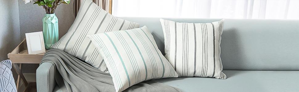 stripe throw pillow covers