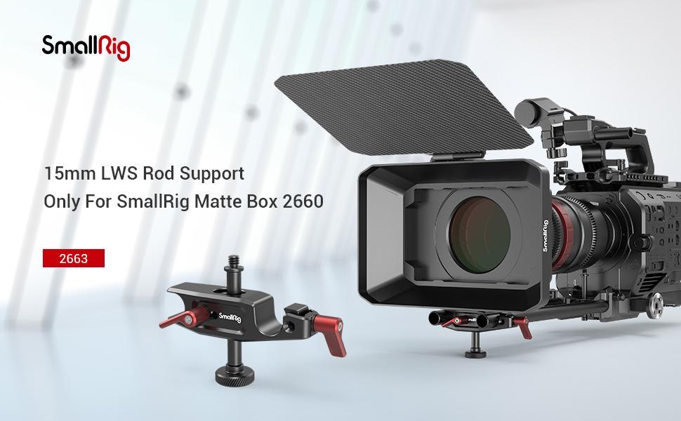 SMALLRIG Supporto per Asta da 15 mm per Matte Box 2660-2663