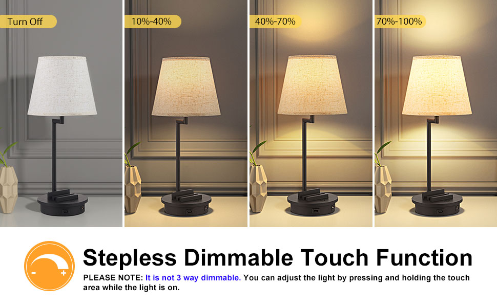 Doowo dimmable table lamp